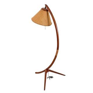 Mid Century Modern Rispal Style Teak Arch Lamp