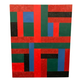 Vintage Adam Kubach Geometric Abstraction Painting