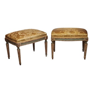 Pair Period French Louis XVI tabourets/benches