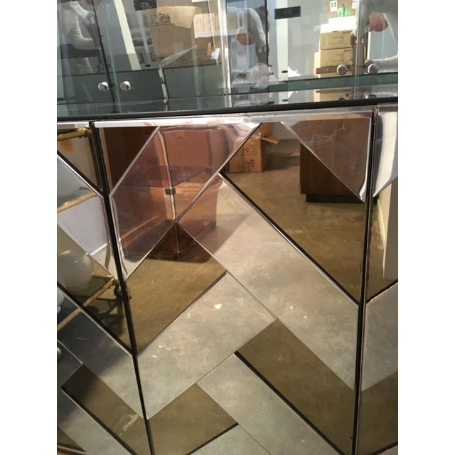 Modern Vintage Ello Chrome, Smoked Glass and Mirror Credenza or Sideboard - Image 7 of 8