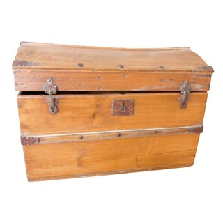 Antique Wood Traveling Trunk
