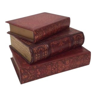 Antique Book Box - Set of 3