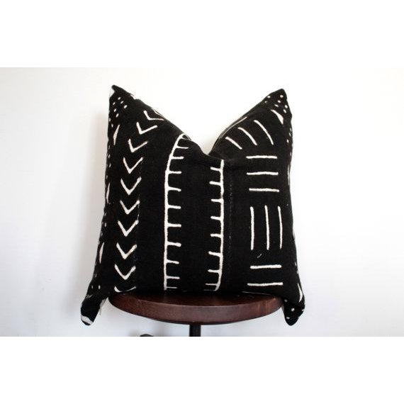 Black and White African Mud Cloth Pillow - Image 2 of 5