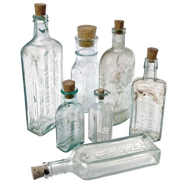 Vintage Aqua Glass Bottles - Set of 7 - Image 2 of 2