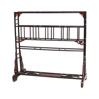 Large Chinese Lacquered Garment Rack