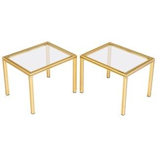 Vintage Vandel Brass Side Tables- A Pair