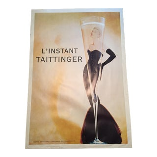 Vintage Taittinger Champagne Advertisement