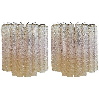 A Pair of Mid-Century Murano Sconces by Venini