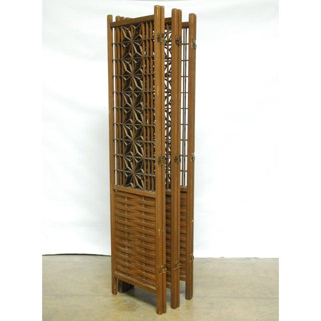Mid-Century Six Panel Folding Geometric Screen - Image 6 of 6