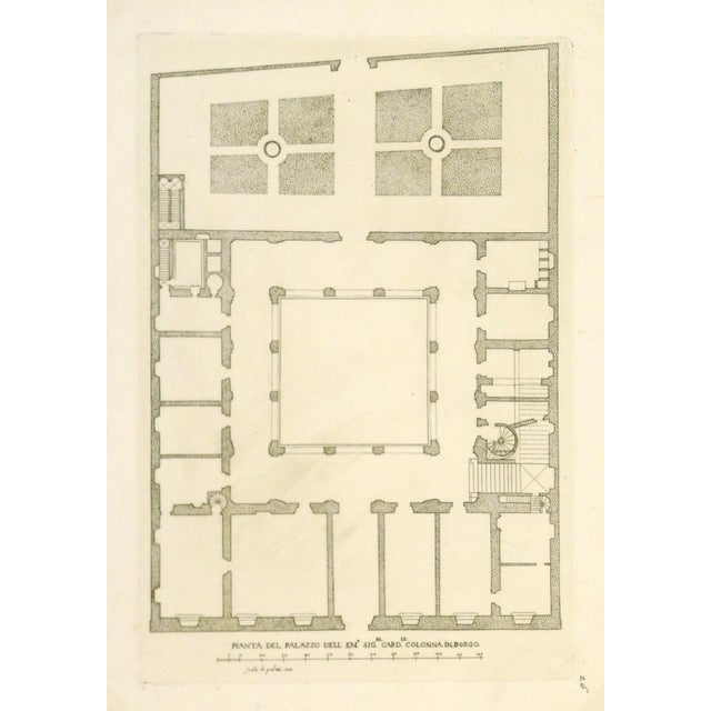 Image of Antique Italian Architectural Engraving, 1650
