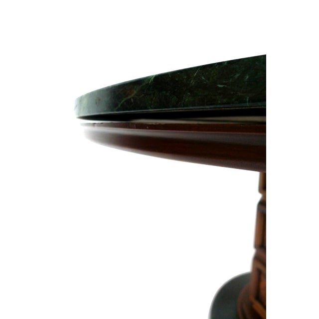Widdicomb Mid-Century Green Marble Center Table - Image 4 of 7