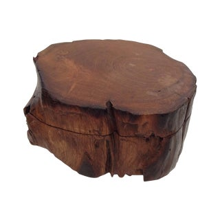 Rustic Wood Natural Log Box