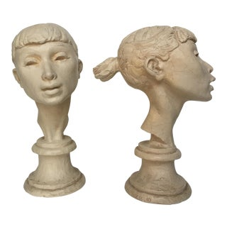 Fred Press Original Signed Ballerina Busts- A Pair