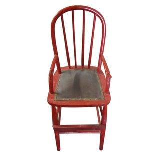 Vintage Wooden Child's High Chair