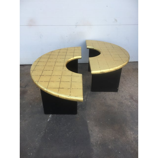 Modern Probber Style Gold Top Coffee Table