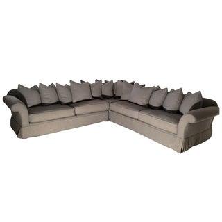 Ralph Lauren Gray Wool Flannel Sofa