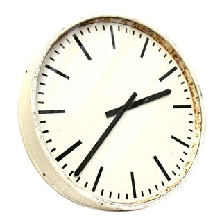 Vintage White Wall Clock
