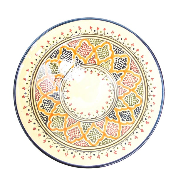 Blue & Red Atlas Arabesque Plate - Image 1 of 2