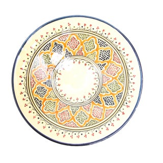 Blue & Red Atlas Arabesque Plate