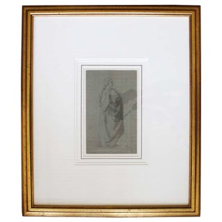 McGuire Signed Figural Sketch in Gold Frame