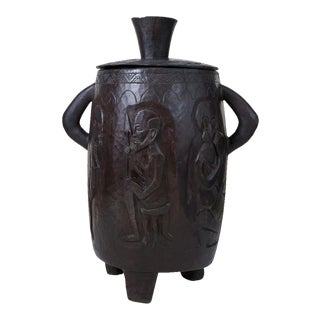Antique Hand-Carved African Honey Pot