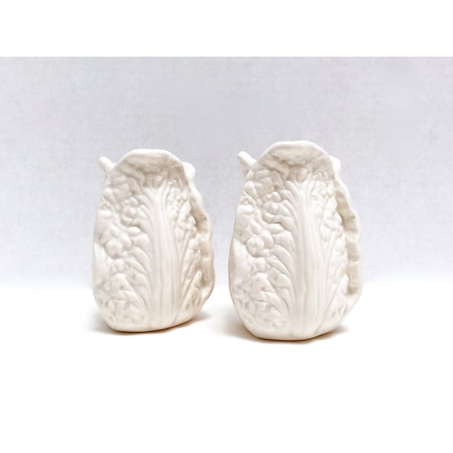 Fitz & Floyd White Cabbage Shakers - A Pair - Image 5 of 8