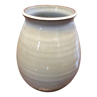 Gray Green Glaze Studio Pottery Vase