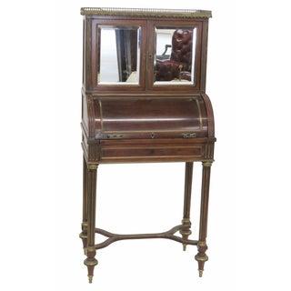 Louis XVI Style Bronze Mounted Cylinder Desk
