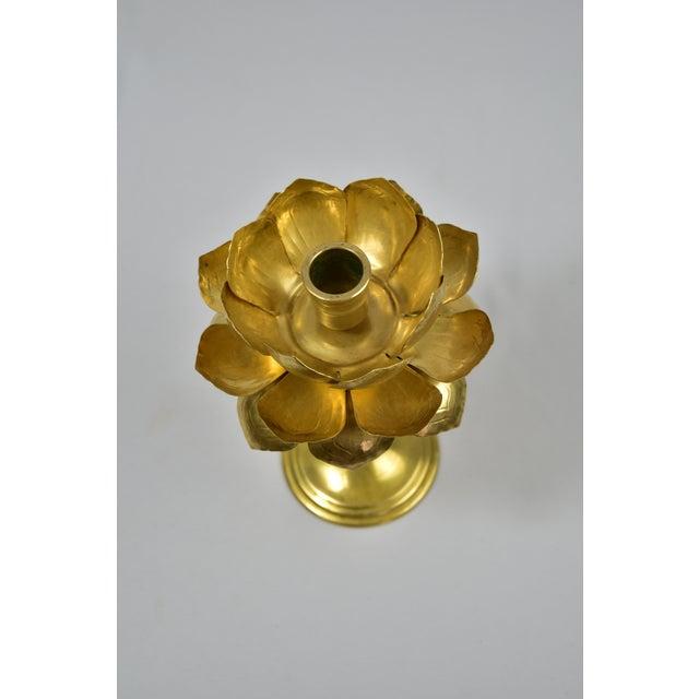 Vintage Feldman Brass Lotus Blossom Candlestick - Image 4 of 11