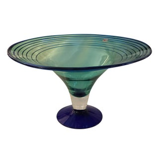 Blenko Hand Blown Art Glass Bowl