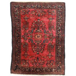 "RugsinDalls Antique Wool Persian Lilihan Rug - 3'6"" X 4'9"""