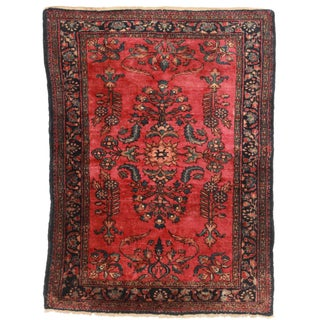 "Antique Wool Persian Lilihan Rug - 3'6"" x 4'9"""