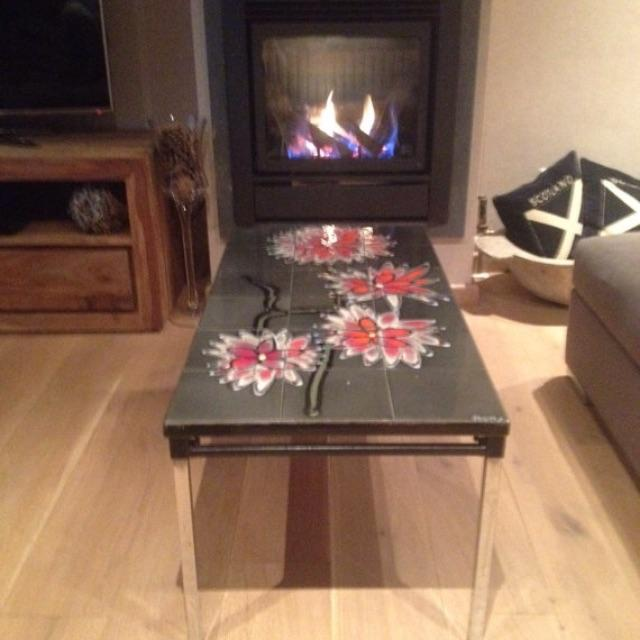 Vintage 1960s Belgian Tiled & Chrome Coffee Table - Image 6 of 6