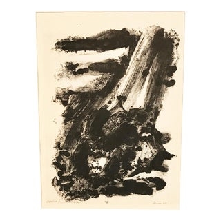 D. Curson 1963 Abstract Expressionist Lithograph