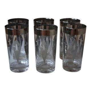 Silver Ombre Drink Glasses - Set of 6
