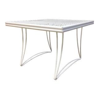 Mid Century Modern White Homecrest Side Table