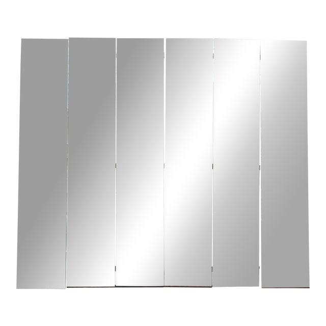 Mid-Century Modern Beveled Mirror Screen - Image 1 of 11