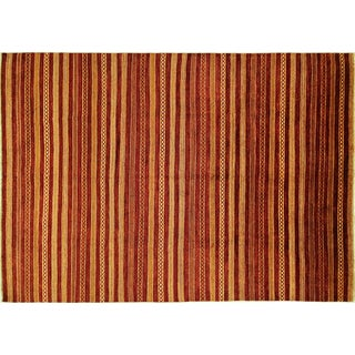 Oriental Gabbeh Hand Knotted Rug - 9'x 12'10""