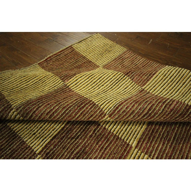 "Checkered Gabbeh Kashkuli Rug - 8'2"" x 10'6"" - Image 9 of 10"