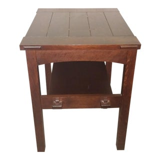 Stickley Mission Collection Butterfly Top End Table