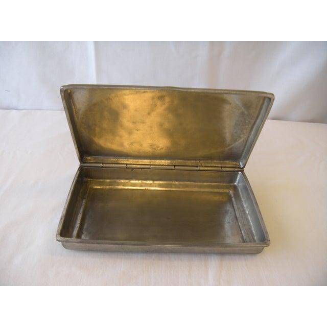 Image of Vintage Italian Pewter Rectangular Lidded Box