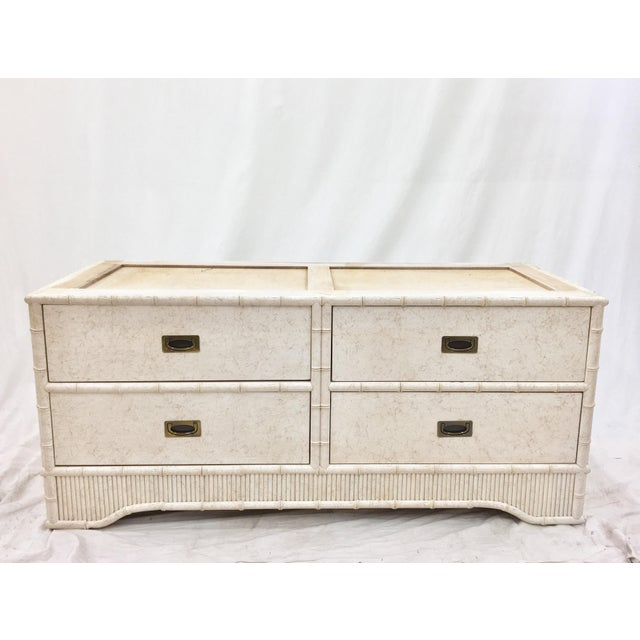 Image of Faux Bamboo Dresser Cabinet by Ficks Reed