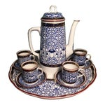 "Image of Royal Worcester ""Royal Lily"" Demitasse Set"