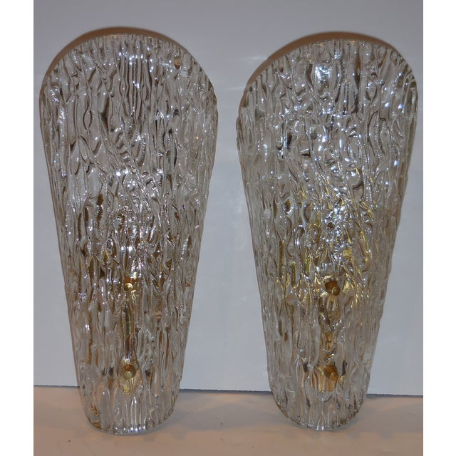 Vintage Textured Glass Sconces - Pair - Image 10 of 11