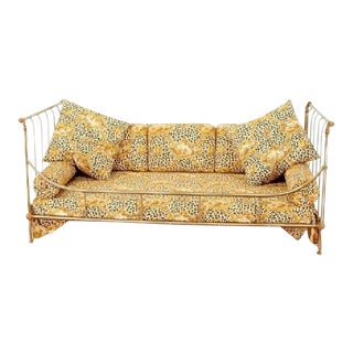 Maison Jansen Steel & Brass French Daybed