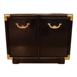 Drexel Accolade Campaign Style Black Nightstand