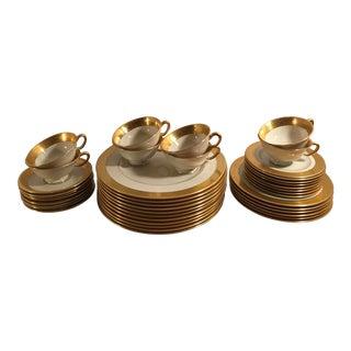 Vintage Lenox Gold Rim Fine China Dinnerware - Set of 41