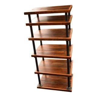 Barnwood & Industrial Steel Bookcase