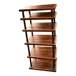 Barnwood & Industrial Steel Bookcase