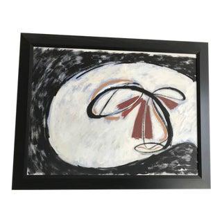 "C. 1950 P. Callahan ""Surrounding Black"" Vintage Painting"
